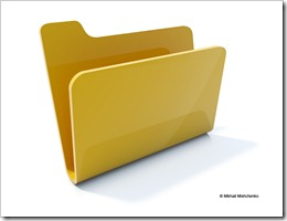 Empty yellow folder icon isolated on white